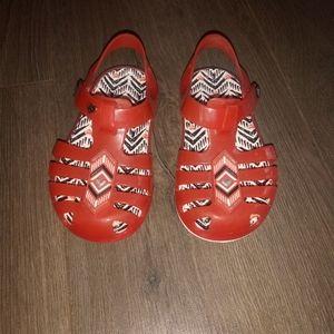 Baby girls jelly crocs sandals sz 6